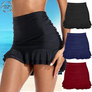 Women-039-s-Swim-Skirt-Bikini-Bottom-Ruched-Tankini-Shorts-Beach-Swimming-Bathing-US