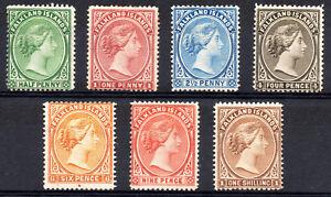 Falkland-Islands-QV-1891-1902-Selection-of-7-mint-stamps-see-description