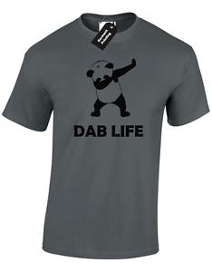 DAB LIFE PANDA MENS T SHIRT FUNNY NOVELTY DANCE HIP HOP URBAN POGBA DOPE SWAG