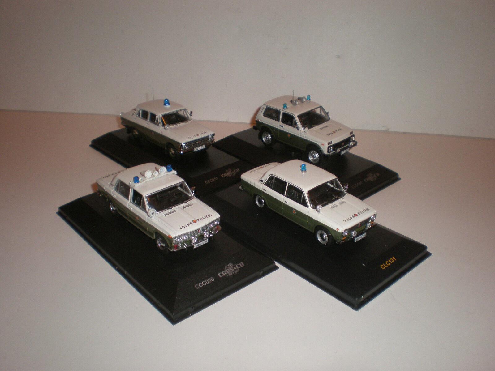 1 43 Set of 4 models Moskvitch-408 LADA-2103, 2121 & 1200  Volkspolizei
