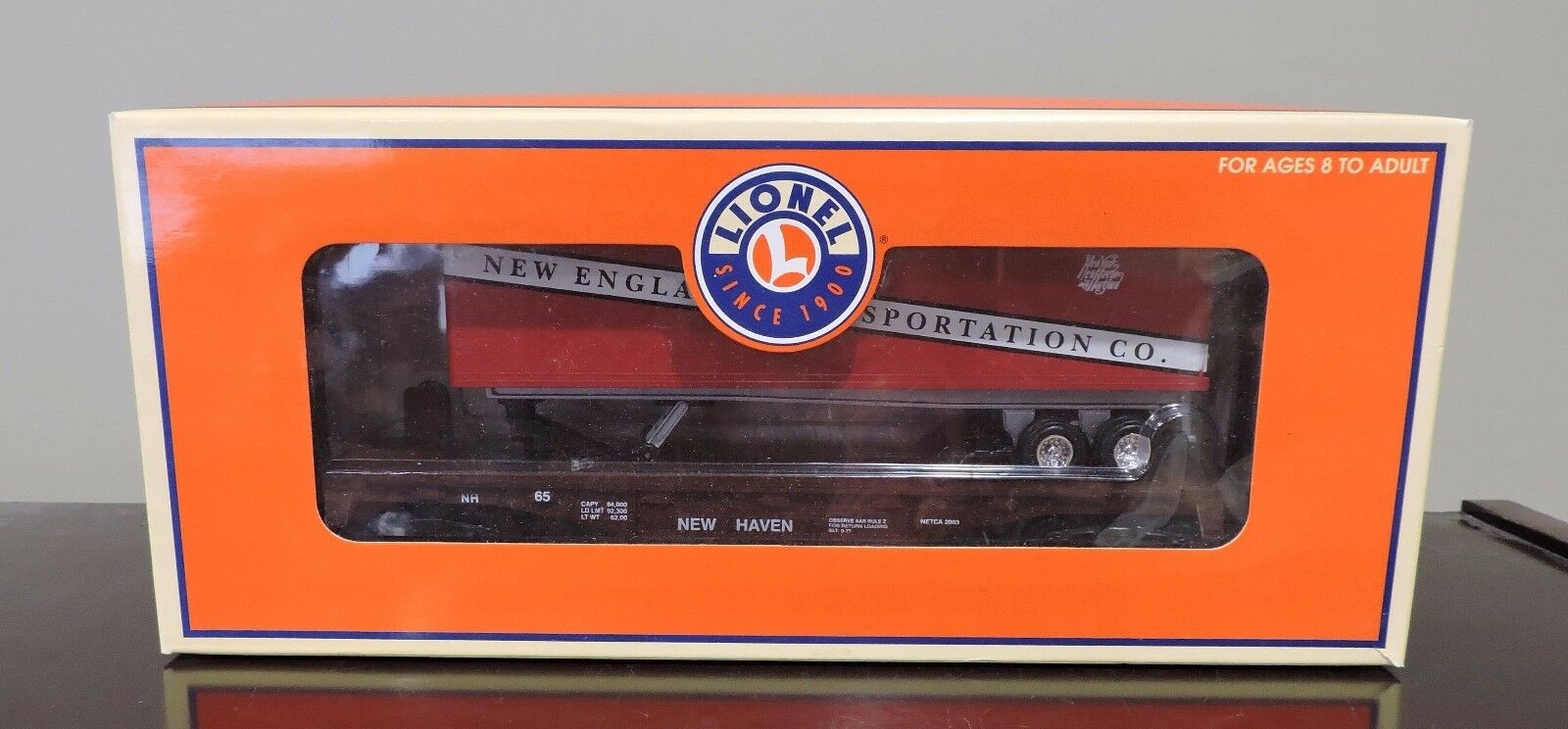 LIONEL TRAIN  6-52306 NEW ENGLAND TRANSPORTATION CO. TOFC FOR THE NETCA