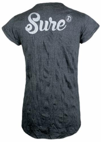 SURE Damen T-Shirt Om Baum des Lebens Silber Druck Sondermodell Yoga Goa S M L