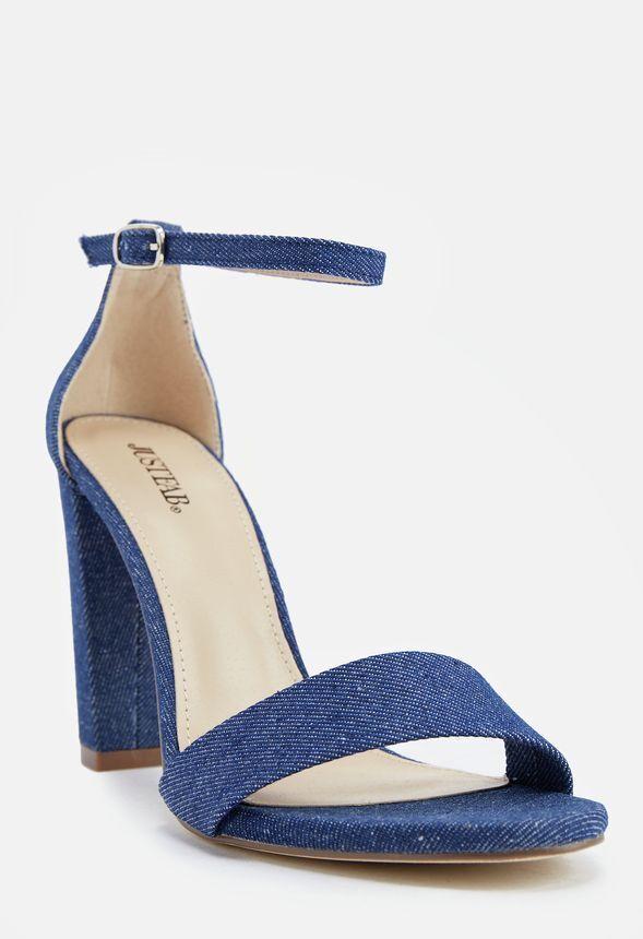 Just Fab Makemba Sandals in Denim UK 6 Eu 38.5 JS39 07