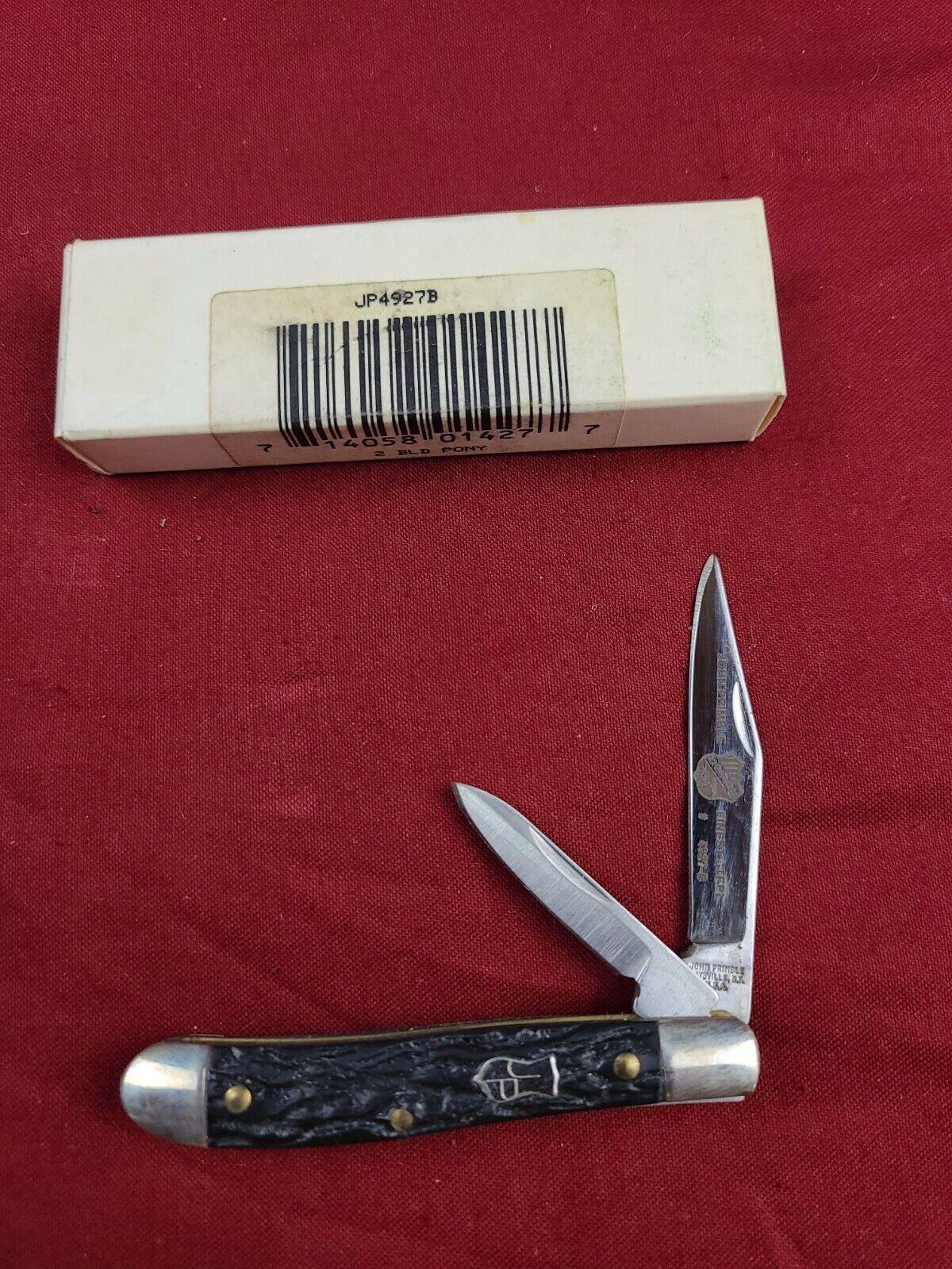 John Primble Pocket Knife Black 4927B 2 BLADE PONY
