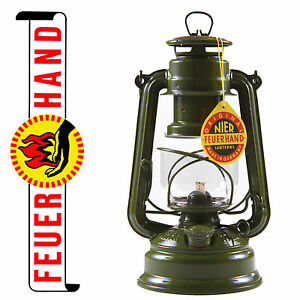 FEUERHAND® hurricane lantern 276 Army olive, galvanized, Made in Germany