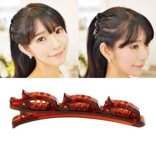 1X Doppelschicht Band Twist Zopf Clip Vorne Haarspange Styling-Tool Flechte U0D4