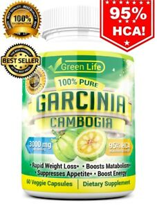 Details About 100 Pure Garcinia Cambogia 95 Hca Diet Pills Weight Loss Fat Burner 60 Capsule