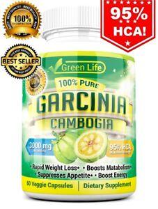 100 Pure Garcinia Cambogia 95 Hca Diet Pills Weight Loss Fat