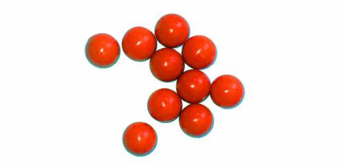 New Legion rubberballs//balles en caoutchouc cal.68-10 pièces-Orange