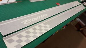 Mazda-Bongo-Chequers-Side-stripes-stickers-decals-Auto-Free-Top-any-colour