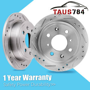 Max Brakes Front /& Rear Performance Brake Kit Premium Slotted Drilled Rotors + Metallic Pads Fits: 2002 02 2003 03 2004 04 2005 05 Acura RSX Type S Models TA034433