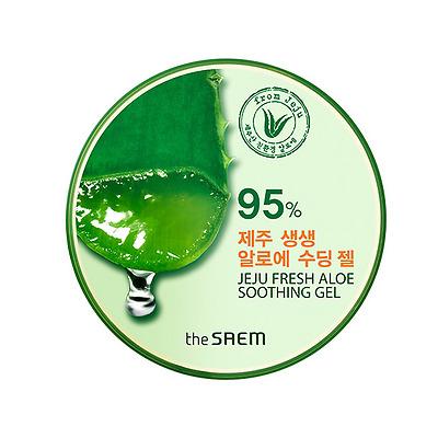 [the SAEM] 95% Jeju Fresh Aloe Soothing Gel 300ml/10.14oz / Korean Cosmetics