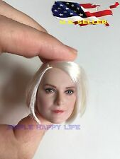 1/6 European American female Head short white hair / phicen hot toys ❶US SELLER❶