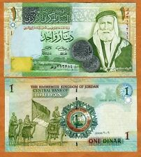 Jordan 1 Dinar Banknote 2013 Like P-34 UNC  Great Arab Revolt  nice paper money