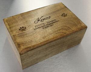 memory box Personalised Genuine Mango Wood Memorial Ashes Casket Huis