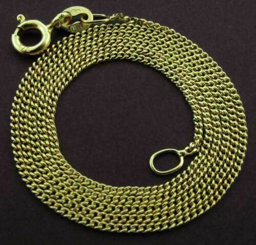 "375 9CT GOLD CURB CHAIN 16/"" 18/"" 20/"" FINE DIAMOND CUT LINK NECKLACE PENDANT CHAIN"
