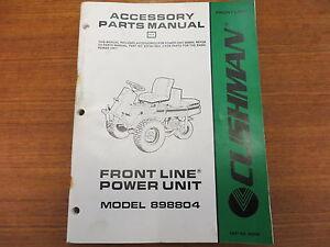 Details about Cushman Front Line Power Unit Model 898804 Accessory Parts  Manual