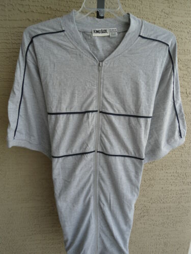 New MENS KING SIZE BIG /& TALL ZIP FRONT BANDED BOTTOM JERSEY KNIT S//S SHIRT 5XL
