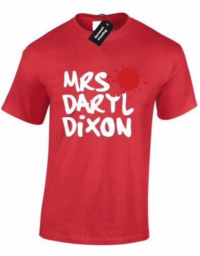 MRS DARYL DIXON UNISEX T SHIRT WALKING ZOMBIE DEAD INSPIRED CASUAL  TOP S-XXXL