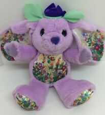 "Mattel Lollipop Posy Candy Blossoms Bunny Purple Plush 1992 12"""