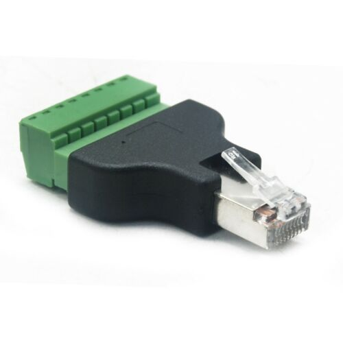 RJ45 8Pin Connector Adapter RS232 To Ethernet Network Serial Server Modbus TCP
