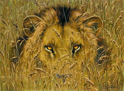 Modern Home Art Wall Decor Animal Lion King Oil Painting Printed On Canvas