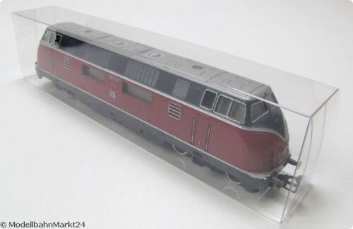 NEU 10 x Leerverpackung Klarsicht-Faltbox für H0-Loks /& Wagen 36 x 54 x 230 mm