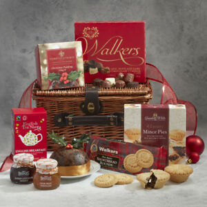 Christmas Gift Baskets 2019.Details About Luxury Christmas Hamper Gourmet Foods Wicker Basket Gift Best Before March 2019