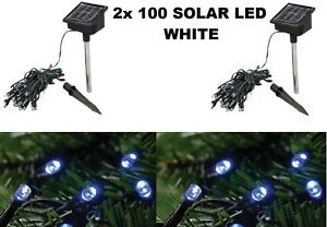 2x100-LED-STRING-LIGHT-DECORATIVE-WHITE-GARDEN-SOLAR-POWER-FAIRY-PARTY-HOME-XMAS