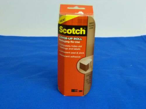 6 in x 30 ft 1 roll Scotch Cover-up Roll Peel /& Stick Packaging Re-use