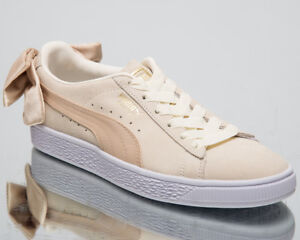 Details about Puma Women's Suede Bow Varsity New Lifestyle Shoes  Marshmallow Gold 367732-03