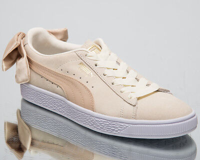 Puma Women's Suede Bow Varsity New Lifestyle Shoes Marshmallow Gold 367732 03 | eBay