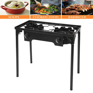 Patio Double Burner 2 Burner Gas Stove With Stand Patio&Outdoor 150000 BTU~