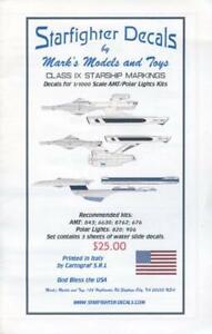 Starfighter-Decals-100-x-1-1000-Star-Trek-Class-IX-Starships-markings