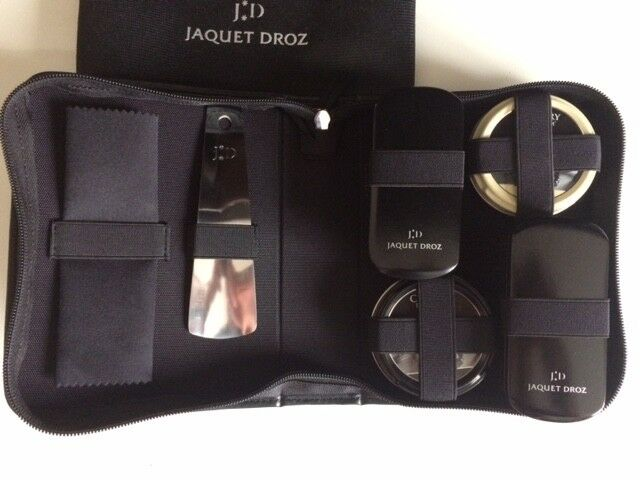 Jaquet Droz LUXURY schuhe Stiefel Polish Cleaning Kit Travel Set Case Baselworld