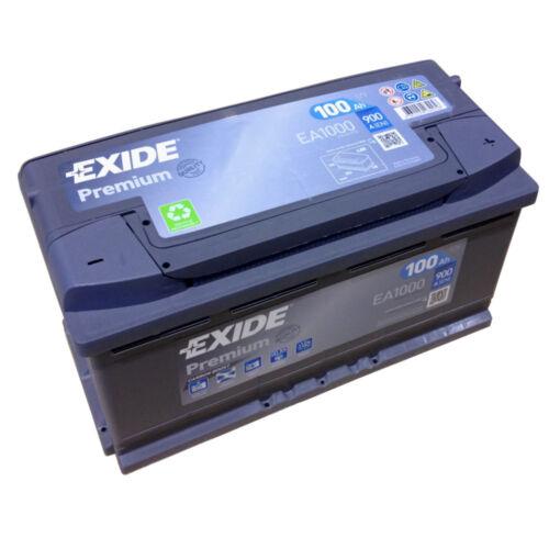 EXIDE PREMIUM Carbon Boost EA 1000 12V 100AH neuestes Model 2014//15 EN A 900