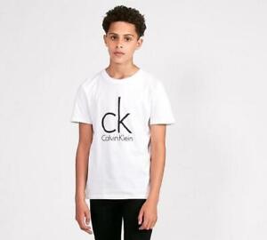 Junior Calvin Klein CK Logo White T-Shirt (SJ2) RRP £25.99