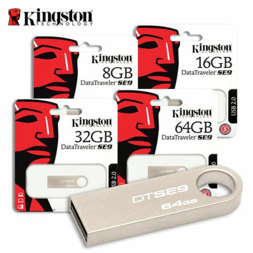 Cle Usb 16 32 64 128 GO Kingston DTSE9H Usb 2.0 Métal Argenté Porte Clé
