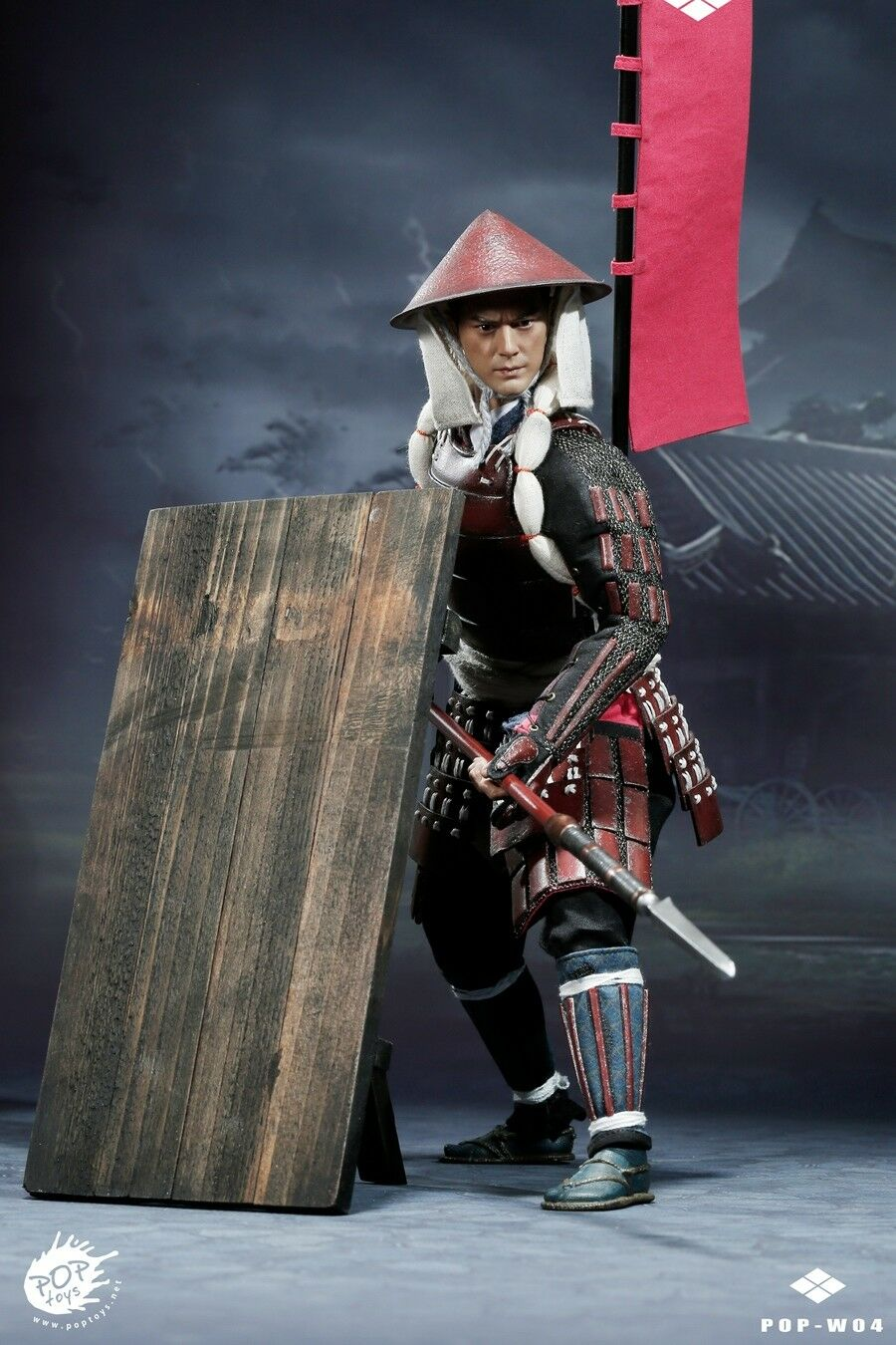 POPTOYS 1 6 Scale Armor Spearman Ashigaru-Spear Deluxe Ver POP-W04B