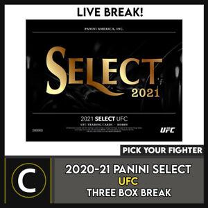2021 PANINI UFC SELECT MMA 3 BOX BREAK #N022 - PICK YOUR FIGHTER