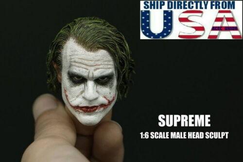 Supreme 1//6 CUSTOM JOKER Head Sculpt 3.0 pour Hot Toys DX11 DX01 États-Unis Vendeur
