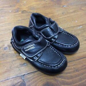 100% authentic genuine shoes pretty nice Boys Black School Shoes Dinosaur Hunters Size 5 Infant | eBay