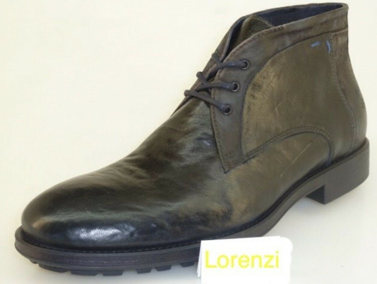 LORENZI Chaussures Homme Made in  Cuir Handmade chaussures Lace Up bottes EUR 44 45