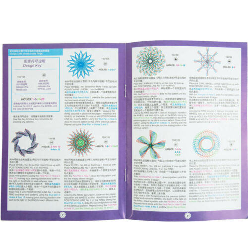 27pcs Spirograph Design Tin Draw Drawing Kids Art Craft Create Education Set Toy