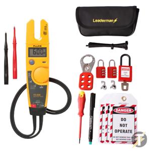 FLUKE T5-600 Voltaje y Continuidad Probador Con Reja de desminado//RCD bloqueo//off Kit LOS-K1