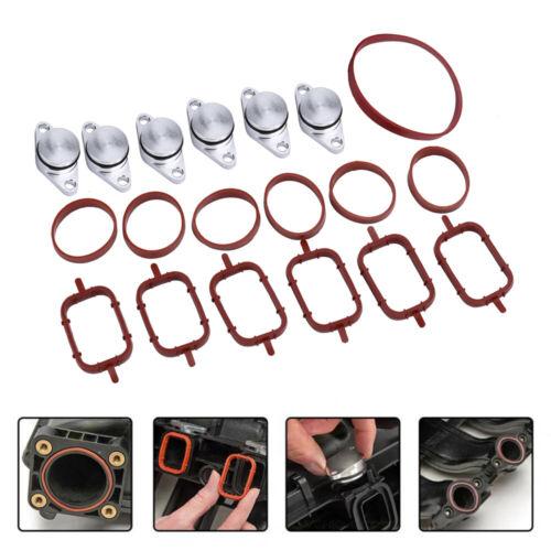 6X 22MM Diesel Per BMW Swirl Flap spazi vuoti Kit di riparazione con guarnizioni collettore