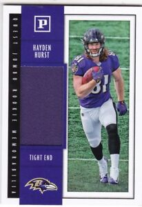 check out e22e5 515dd Details about HAYDEN HURST 2018 PANINI FOOTBALL QUEST JUMBO JERSEY ROOKIE  RC RAVENS