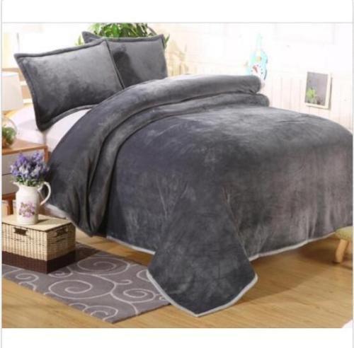 Comfort Classics Soft Velvet Flannel  Micro Plush Blanket Throws Queen King b99