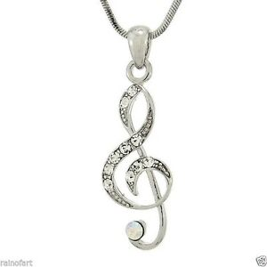 W-Swarovski-Crystal-Treble-Clef-Music-Song-Singing-Gift-New-Pendant-Necklace