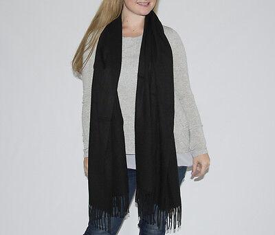 Unisex Birthday Sale 1.8m 0.6m Long Black Warm Black Pashmina Soft Scarf Shawl